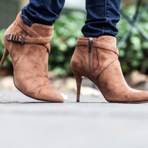 Carolinna Espinosa heeled brown booties